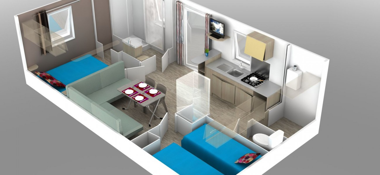 mappa mobilhome 2 chambres